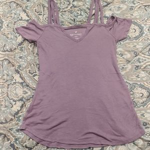 AE Women's Size S Ribbed Off Shoulder Tank Top